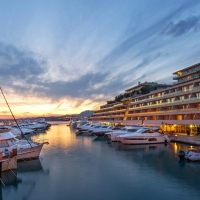 Marina-view-at-night-le-meridien-split-1